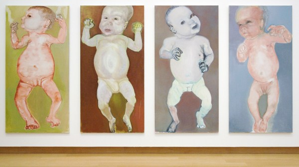 Marlene Dumas - The First People - Olieverf op doek, 1990