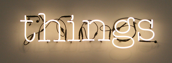 Matthieu Laurette - Things (Purchased With Funds Provided By) - Installatie met contracten en neon 2010-2020 (detail)