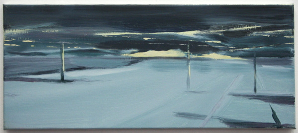 Michael de Kok - Untitled - 30x70cm Olieverf op linnen
