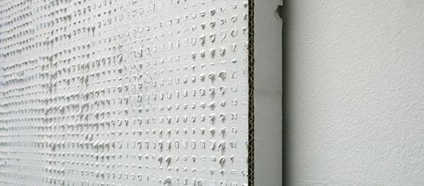 Michiel Ceulers - Die Ruckkehr der toten Mutter met neuen Problemen (Shut the fuck up, Donny!) - 250x200cm Olieverf en spuitbus op canvas en karton (detail)