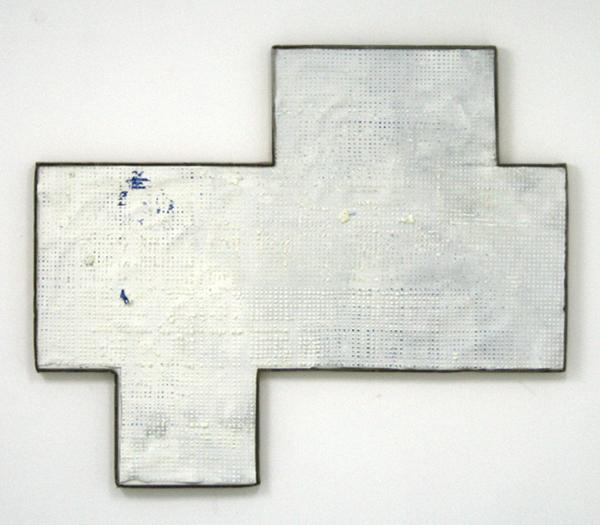 Michiel Ceulers - Even a clock that doesn't work is right twice a day it's applause simply dies - 132x109cm Olieverf en spuitbus op canvas en karton