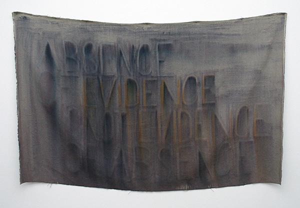 Navid Nuur - Untitled (Abscence of Evidence is Not Evidence of Abscence) - Inkt op canvas en zwaartekracht 2006-2007