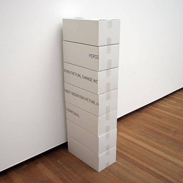 Navid Nuur - Untitled - Print op kartonnen dozen 2006-2007
