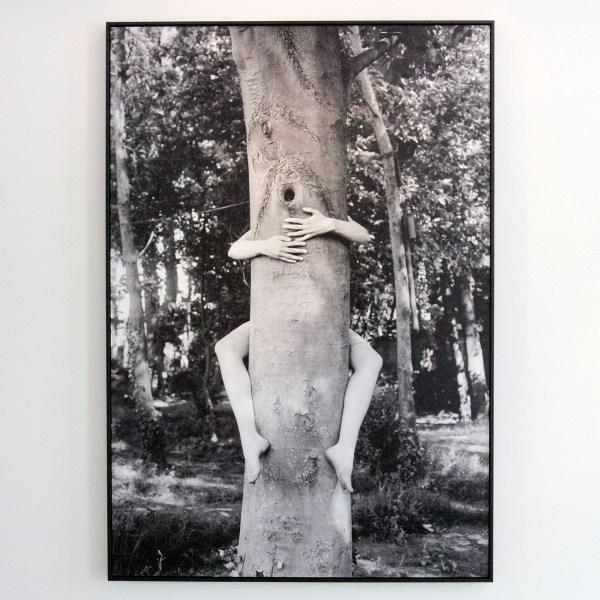 Nel Aerts - Boomhanger (zelfportret)- 120x175cm Fotoprint op dibond