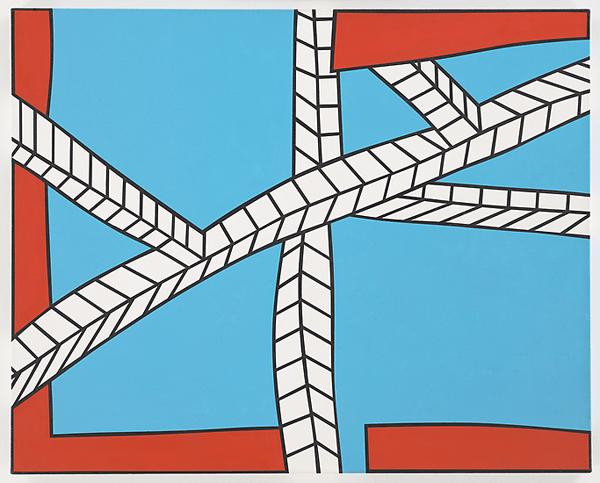 Nicholas Krushenick - Skyscape II - 33x40inch Acrylverf op canvas