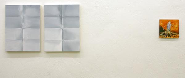 Niek Hendrix - Blinden - Tweeluik 51x38cm Olieverf op canvas op paneel & Jenny Wilson - Mountain Man II - 20x21cm Olieverf op foto op dibond