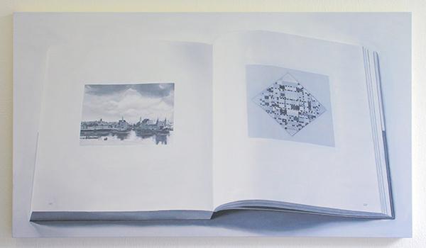 Niek Hendrix - Calligram (pagina 226x227) - 65x110cm Olieverf op canvas op paneel