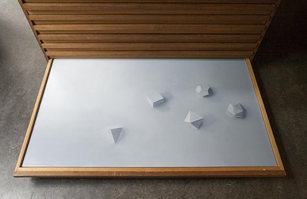 Niek Hendrix - Five Forms - 100x140cm Olieverf op canvas op paneel