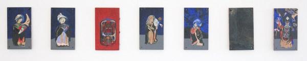Niels Broszat - Iconen Reeks - Eitempera en olieverf op paneel