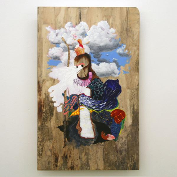 Niels Broszat - Monkey King - 121x76cm Olieverf op paneel