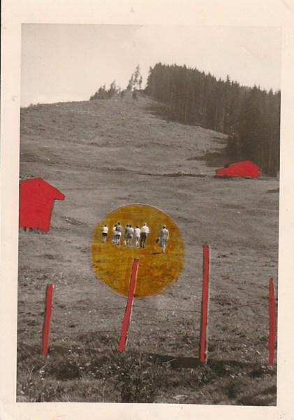 Niki Murphy - Groep 7  - 5x11cm Foto, pen, aquarelverf en viltstift, 2015