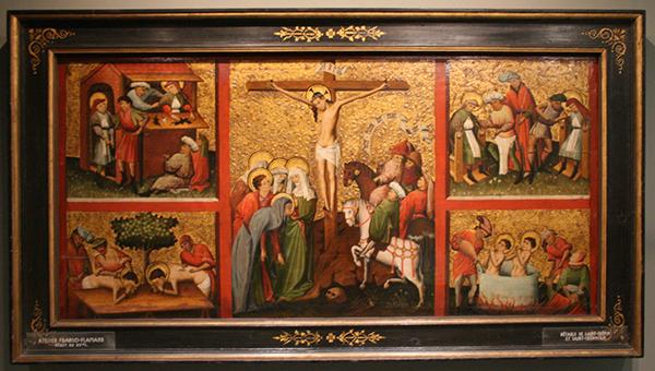 Noord-Frankrijk - Kruisiging met scenes uit het leven van Crispinus en Crispianus - Paneel