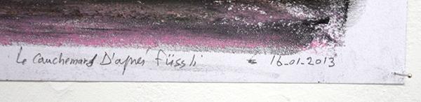 Nour-Eddine Jarram - La Cauchmar d'Apres Fussli - 50x60cm Pastel op papier (detail)