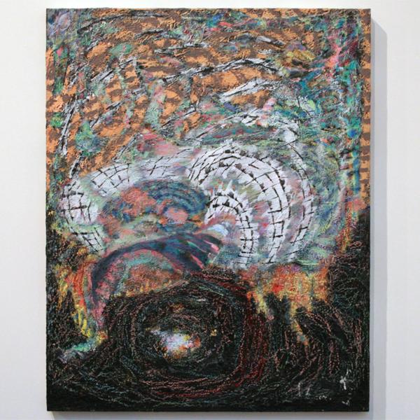 Omar Koubaa - Working with dark soil 4 - 100x70cm Acrylverf op doek