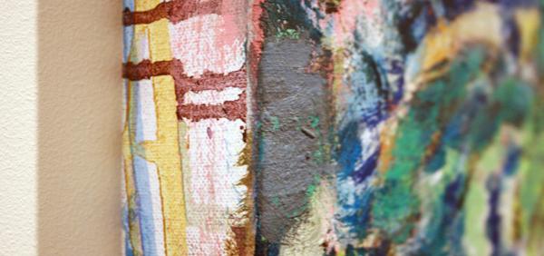 Omar Koubaa - Working with dark soil D - 50x50cm Acrylverf op doek (detail)