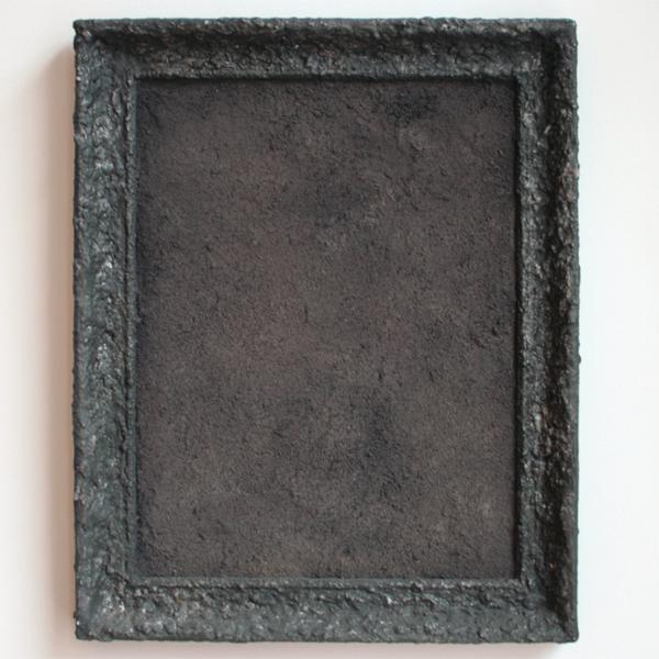 Otto Egberts - 52a Panorama b - 59x48cm Lijst, lijm, stof en pigment