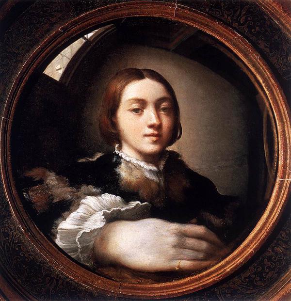Parmigianino - Zelfportret bij de spiegel
