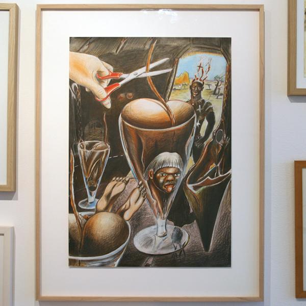 Paul Klemann - Het Staartje - 45x65cm Potlood op papier