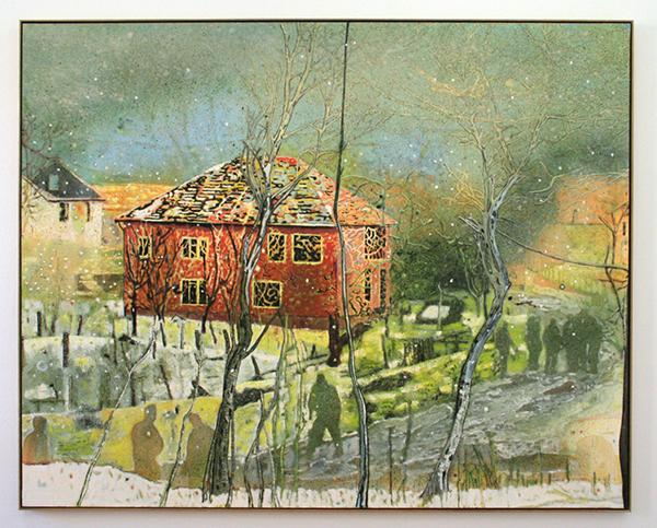 Peter Doig - Red House - 200x250cm Olieverf op doek