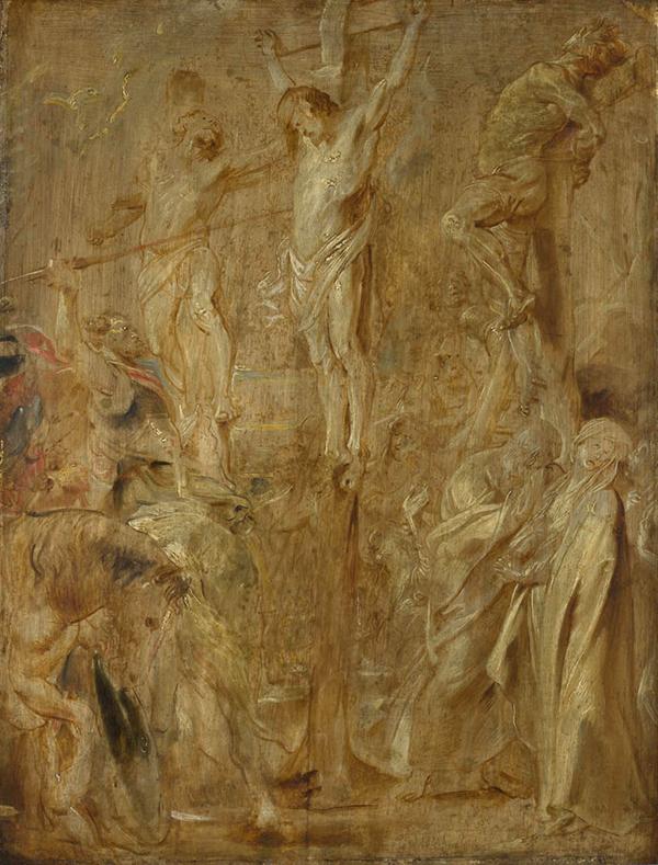 Peter Paul Rubens - Modello voor de Lanssteek - 65x50cm Olieverf op paneel