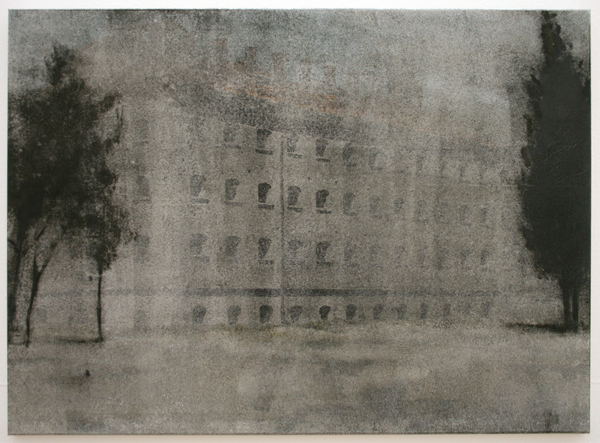Peter Redert - Haus im Osten - Olieverf op doek