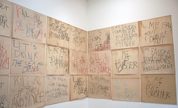 Philippe Vandenberg - Kill Them All (serie) - Houtskool en krijt op papier