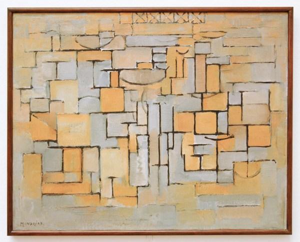 Piet Mondriaan - Compositie XV - Olieverf op doek 1913