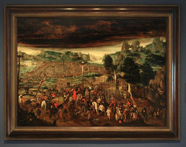Pieter Breughel de Jonge - De Kruisiging - Olieverf op paneel