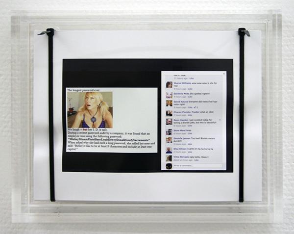 Pieterjan Ginckels - Longestpasswordever- 22x28x6cm 250 Offset prints, kabelbinders en plexiglas