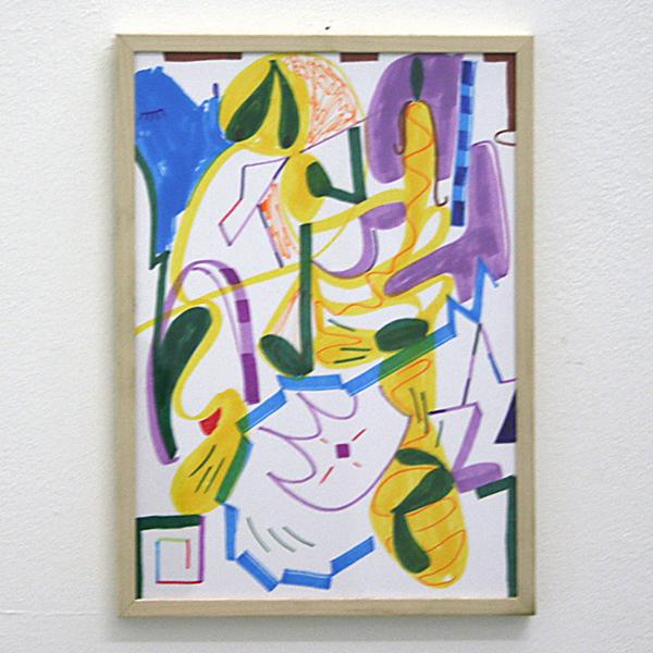 Pim Blokker - Untitled - 30x20cm Marker op papier