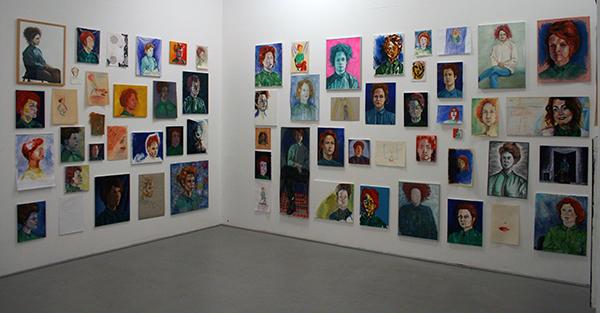 Puck Verkade - 99 Zelfportretten- Diverse afmetingen en materialen