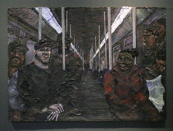 RaQuel van Haver - Metro 54 - 180x250cm Olieverf op jute