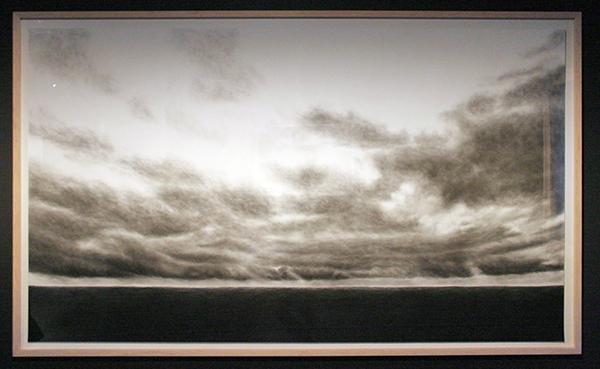 Raquel Maulwurf - Iceland - 153x263cm Houtskool en pastel op museumkarton