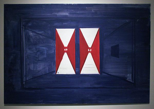 Rene Daniels - De Donkere Kamer - 130x190cm Olieverf op doek 1987