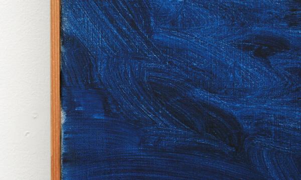 Rene Daniels - Een I treurend om een punt (Paneel A & Paneel B) - Olieverf op canvas (detail)