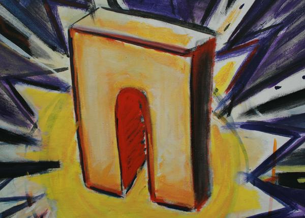 Rene Daniels - Historia Mysteria - Olieverf op canvas (detail)