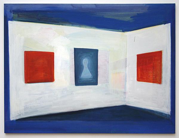 Rene Daniels - Painting on the Flag - Acrylverf op doek 1986