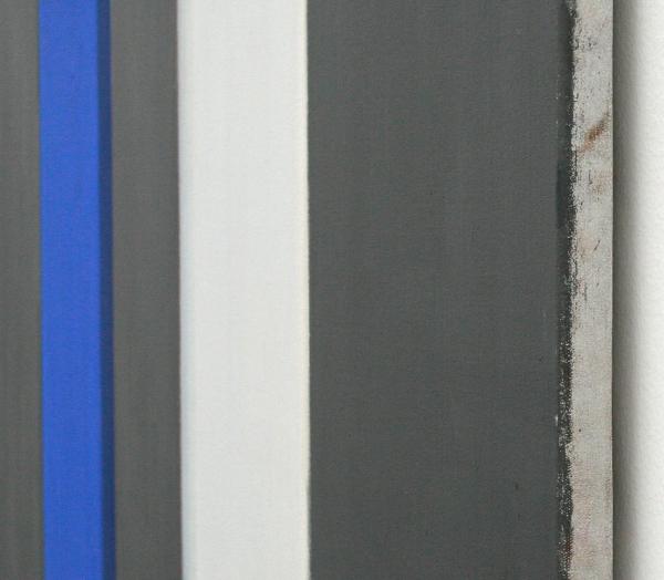 Rene Daniels - Twee I's Strijdend om een punt - Olieverf op doek (detail)
