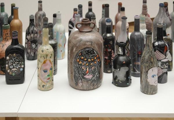 Rik Meijers - Bottles - Diverse materialen op glas 1998-2012 (detail)