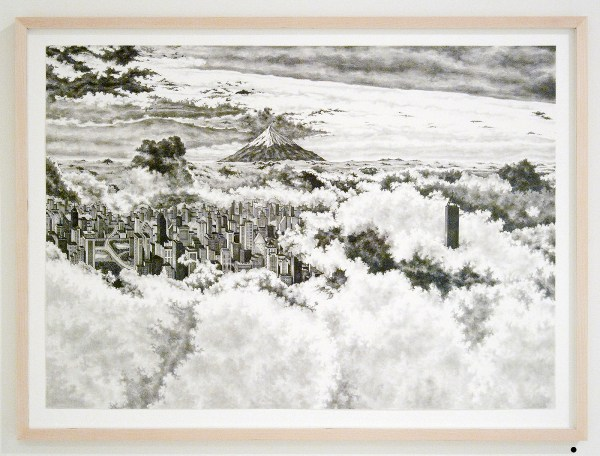 Rik Smits - Western view of Electus City - 50x70cm Potlood op papier