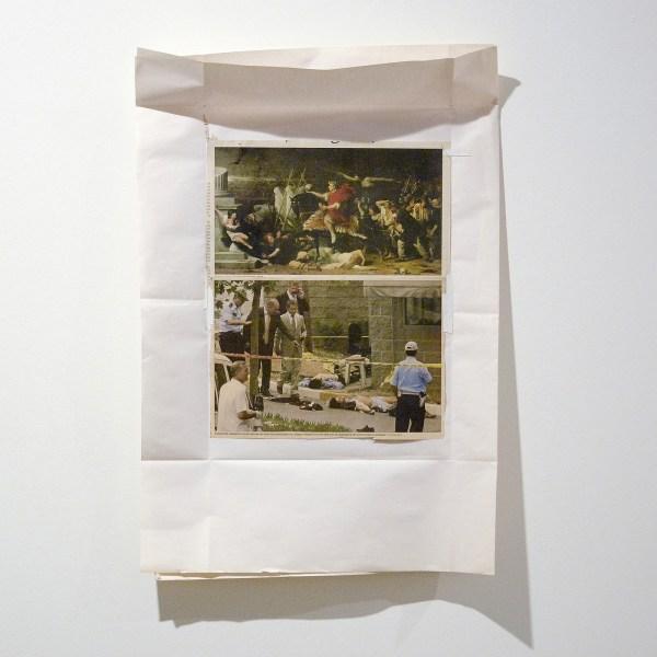 Rob Johannesma - Triumphs of Caesar - American Consulate - 37x57cm Krantencollage