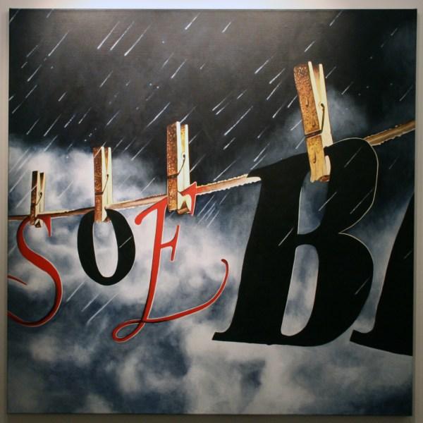 Rob Scholte - Benson & Tears - 150x150cm Acrylverf op linnen