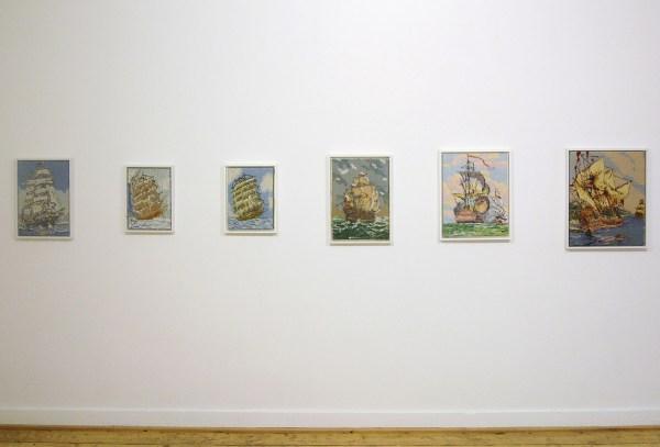 Rob Scholte - Diverse titels - Textiel en wol op canvas, 2006-2007