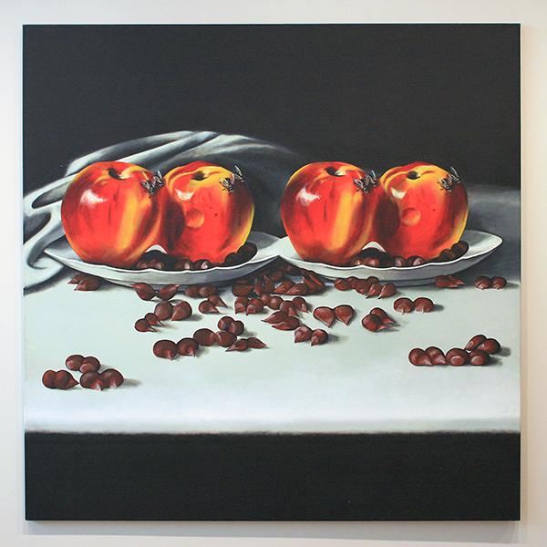 Rob Scholte - Verboden Vruchten - Acrylverf op doek 1985