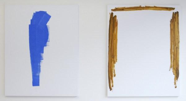 Robbin Heyker - De Parkiet 5 & Kapsel 4 - 150x120cm - Gesso potlood en acrylverf & Acrylverf en olieverf op doek