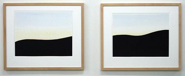 Robbine Clignett - Indigo & Indigo - 37x47cm Aquarel op papier