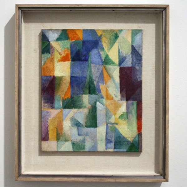 Robert Delaunay - Windows Open Simultaneously (First Part, Third Motif) - Olieverf op canvas