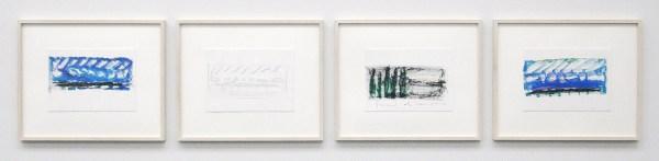 Robert Zandvliet - Am Genfersee - Grafiet en oliepastel op papier, 4 van 11 bladen