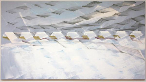 Robert Zandvliet - Winter bij Jouswier - Eitempera op linnen