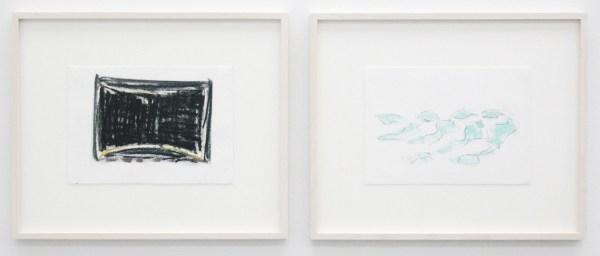 Robert Zandvliet - Studio - Oostindische inkt, grafiet en oliepastel op papier, 5 van 10 bladen (detail)